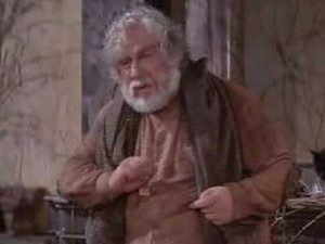 Peter Ustinov as the Old Man in Logans Run