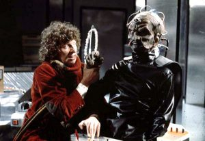 The Doctor struggles with Davros