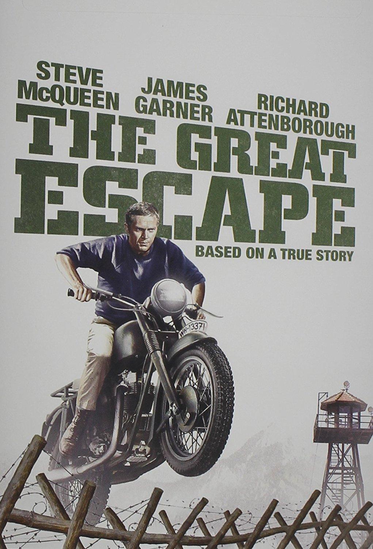 The Great Escape, starring Steve McQueen, Dickie Attenborough, Donald Pleasance, James Garner, Charles Bronson, David McCallum, James Coburn, Gordon Jackson
