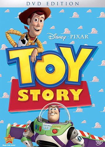 Toy Story starring Tim Allen, Tom Hanks, Don Rickles, Wallace Shawn, by John Lasseter