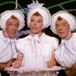 "The manic trio ""Triplets"" (with Fred Astaire, Nanette Fabray, and Jack Buchanan in matching baby outfits"