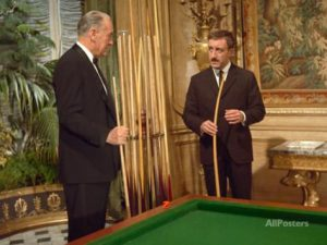 George Sanders and Peter Sellers in A Shot in the Dark
