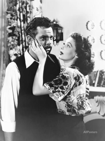 Newlyweds Orson Welles and Loretta Young in The Stranger