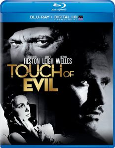 Touch of Evil, starring Orson Welles, Charleton Heston, Janet Leigh, Akim Tamiroff, Zsa Zsa Gabor, Marlene Dietrich