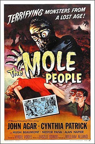 The Mole People (1956) starring John Agar, Cynthia Patrick, Hugh Beaumont, Alan Napier