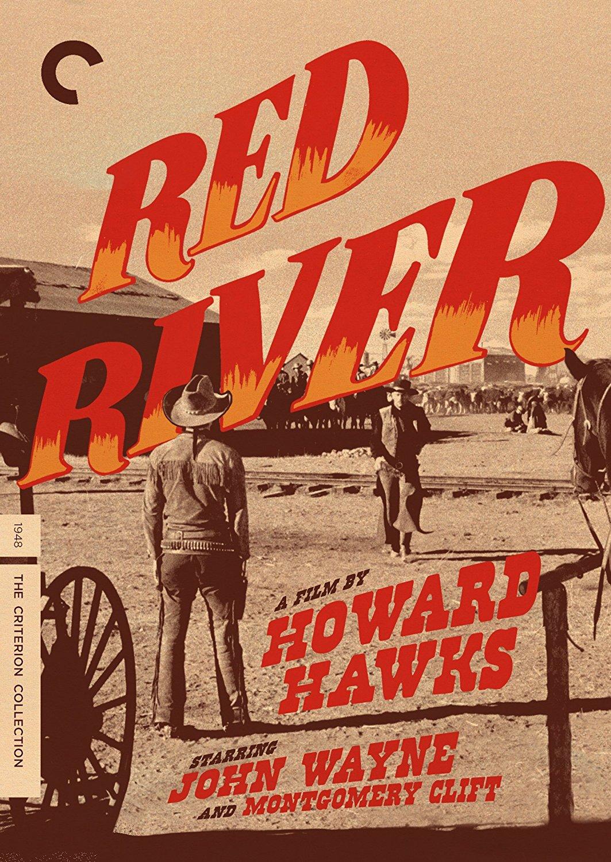 Red River (1948), starring John Wayne, Montgomery Clift, Walter Brennan, Harry Carey, Sr., Noah Beery, Jr., directed by Howard Hawks