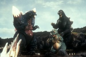 Space Godzilla with Minilla and Godzilla