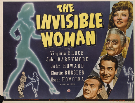 The Invisible Woman (1940), starring Virginia Bruce, Charles Lane, John Barrymore