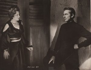 Jean Thatcher (Irene Ware) and Dr. Vollin (Bela Lugosi) in The Raven