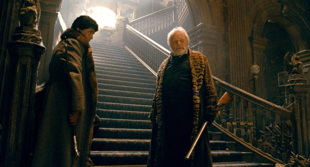 Benicio del Toro and Anthony Hopkins have a strained relationship in The Wolfman 2010