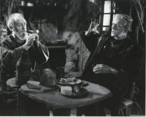 The blind hermit and his friend, Frankenstein's Monster (Boris Karloff) in Bride of Frankenstein