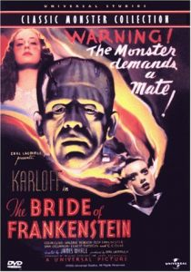 Bride of Frankenstein (1935) starring Boris Karloff, Elsa Lanchester, Colin Clive