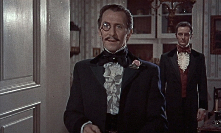 Peter Cushing as Dr. Franck, Frankenstein's new alias -- and new body as well