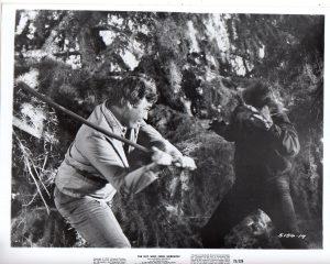 The Boy Who Cried Werewolf - father fending off a werewolf attack