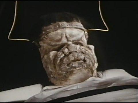The face of Frankenstein's monster in Dracula vs Frankenstein