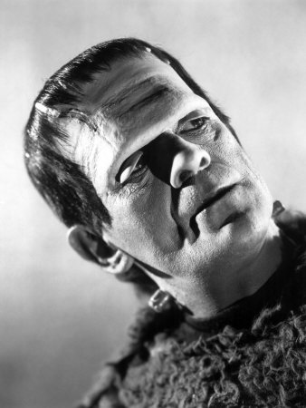 Boris Karloff as Frankenstein's monster for the last time
