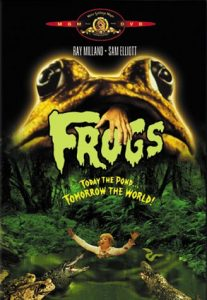 Frogs (1972) starring Ray Milland, Sam Elliot, Joan Van Ark