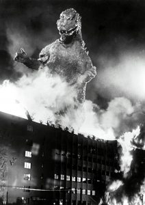 Tokyo in flames, courtesy of Gojira