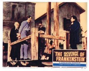Guillotine scene from The Revenge of Frankenstein