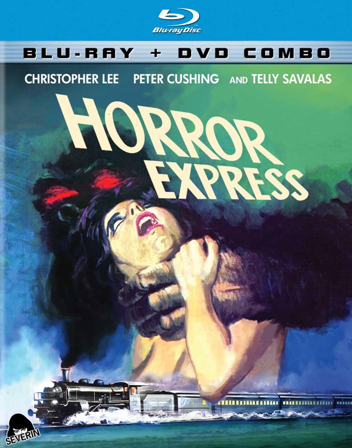 Horror Express, starring Peter Cushing, Christopher Lee, Telly Savalas