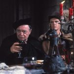Peter Lorre as Dr. Bedlo with his unappreciated son Rexford (Jack Nicholson)