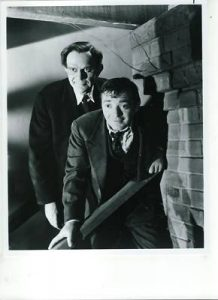 Raymond Massey and Peter Lorre in Arsenic and Old Lace