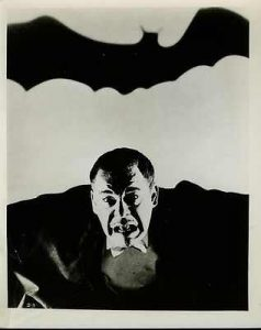 Son of Dracula publicity photo, with Lon Chaney Jr. as the title charater, Alucard