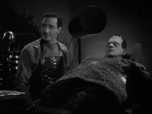 Son of Frankenstein - Basil Rathbone as Wolf Frankenstein, Boris Karloff as Frankenstein's Monster