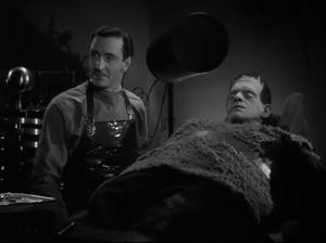 Son of Frankenstein - Basil Rathbone as Wolf Frankenstein, Boris Karloff as Frankenstein's Monster