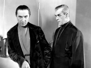 "Bela Lugosi and Boris Karloff in ""The Black Cat"" - buy from Amazon.com"