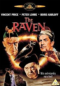 The Raven (1963) starring Vincent Price, Boris Karloff, Peter Lorre, Jack Nicholson, Hazel Court
