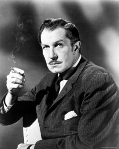 Vincent Price smoking