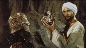 Vizier in his golden mask with Sinbad