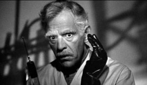 Boris Karloff as Dr. Garth in Before I Hang