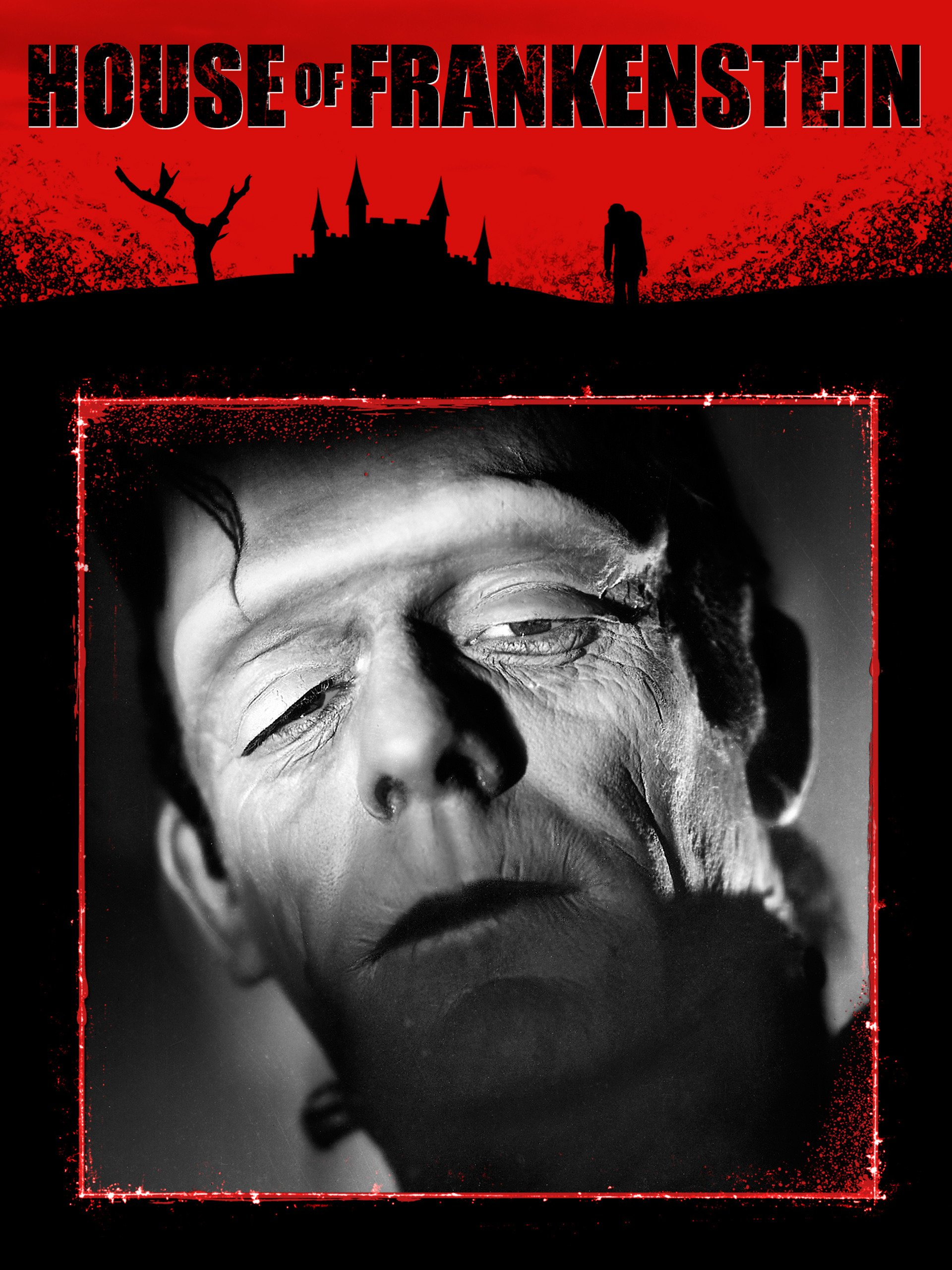 House of Frankenstein (1944), starring Boris Karloff, John Carradine, Lon Chaney Jr.,J. Carrol Naish, Glenn Strange, LionelAtwill, Anne Gwynne, Peter Coe