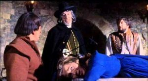 Vincent Price interrogates innocent victims in Witchfinder General