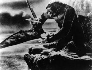 King Kong battles a pteranodon