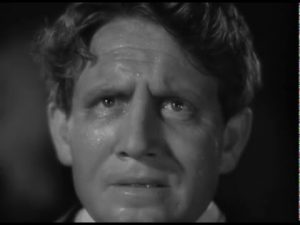 Dr. Jekyll (Spencer Tracy) transforming into Mr. Hyde in Dr Jekyll and Mr. Hyde