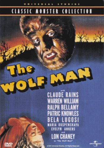 The Wolf Man (1941) starring Lon Chaney Jr., Claude Rains, Evelyn Ankers, Bela Lugosi