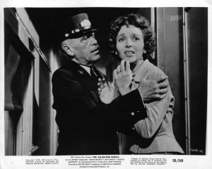 The train scene in The Alligator People, where Beverly Garland's husband has left the train