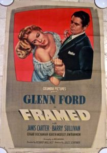 Framed (1947) starring Glenn Ford, Janis Carter, Barry Sullivan