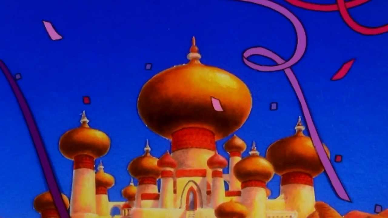 Song lyrics to There's a Party Here in Agrabah as performed in Aladdin and the King of Thieves