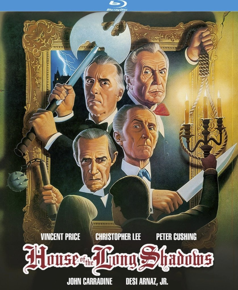 The House of Long Shadows (1983), starring Desi Arnaz Jr., Vincent Price, Christopher Lee, Peter Cushing