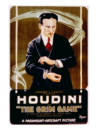 movie review of The Grim Game (1919) starring Harry Houdini