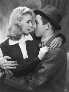 Ginger Rogers looks lovingly at Jimmy Stewart in Vivacious Lady