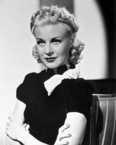 Ginger Rogers looking serious in Vivacious Lady
