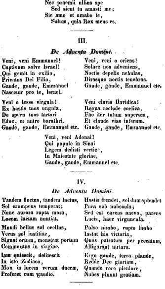 Song lyrics to 'O Come, O Come, Emmanuel' - one of my favorite Christmas carols