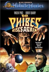 Dr. Phibes Rises Again, starring Vincent Price, Robert Quarry