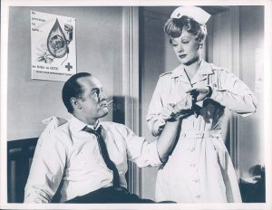 "Bob Hope and Lucille Ball meeting at a blood drive in ""The Facts of Life"""