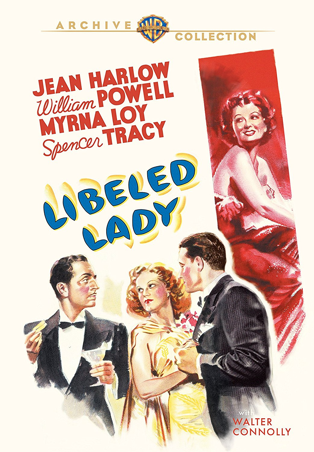 Libeled Lady (1936) starring Spencer Tracy, Myrna Loy, William Powell, Jean Harlow